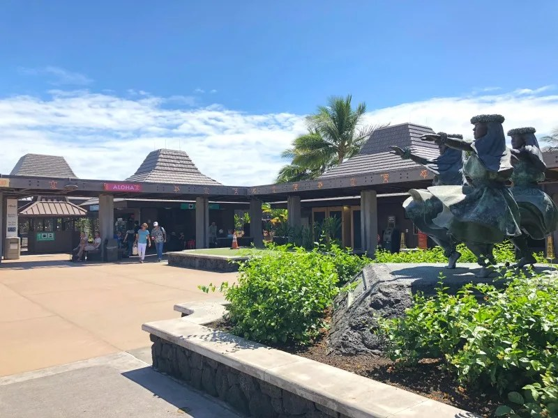 Hawaii Big Island with Kids - Kona Airport Open Air