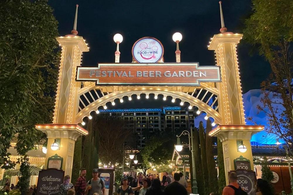 Disney California Adventure Food Wine Festival Beer Garden