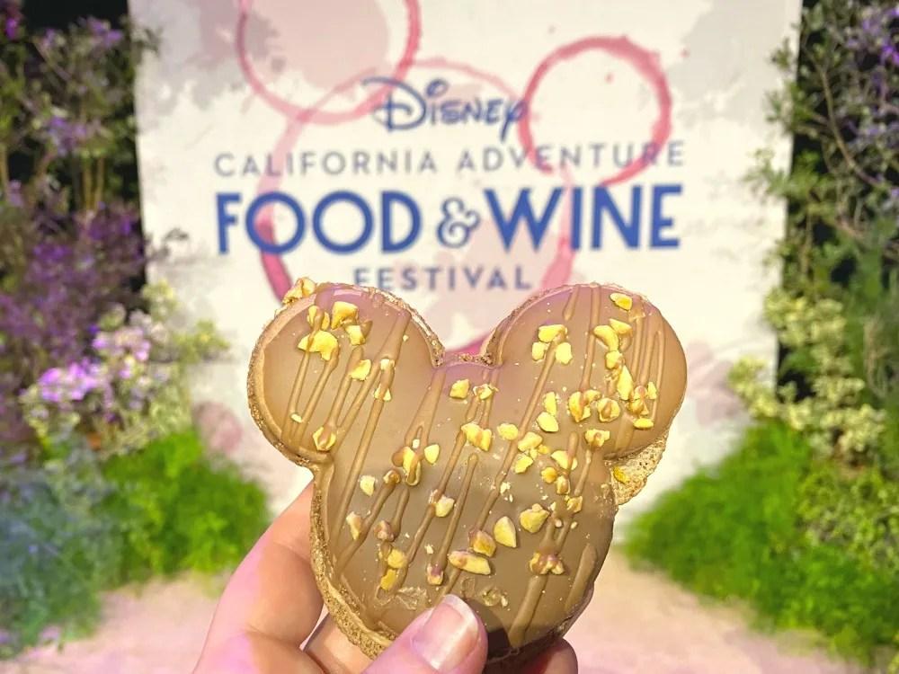 Disney California Adventure Food and Wine Festival Chocolate Peanut Butter Macaron