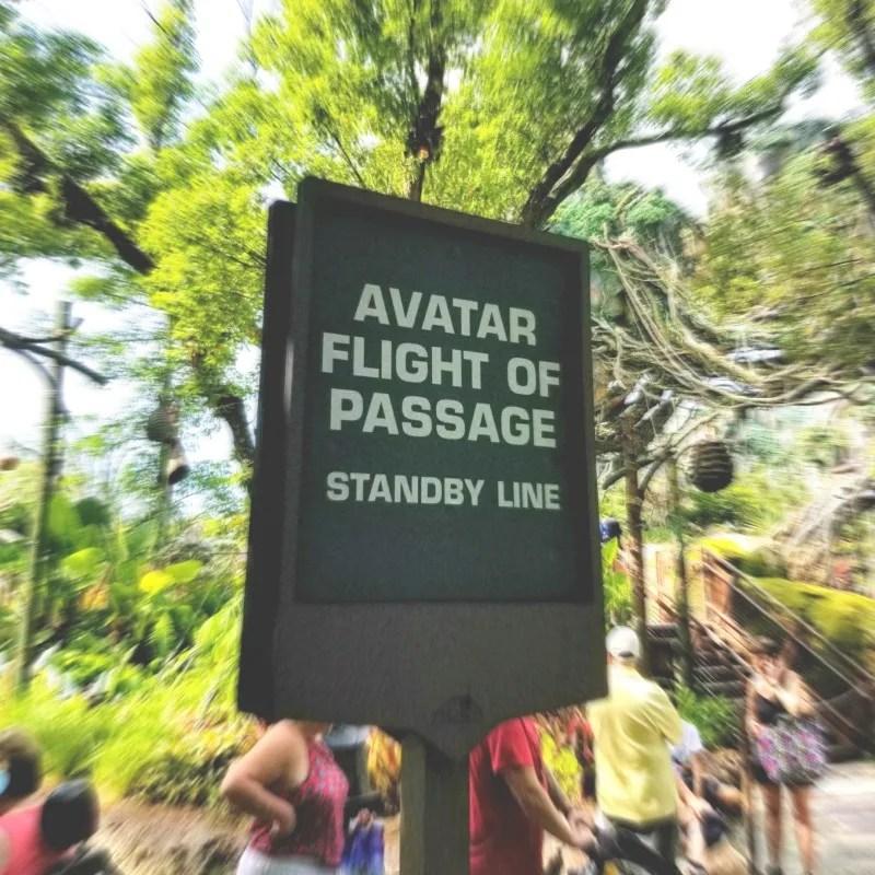 Avatar Flight of Passage - Ride Sign