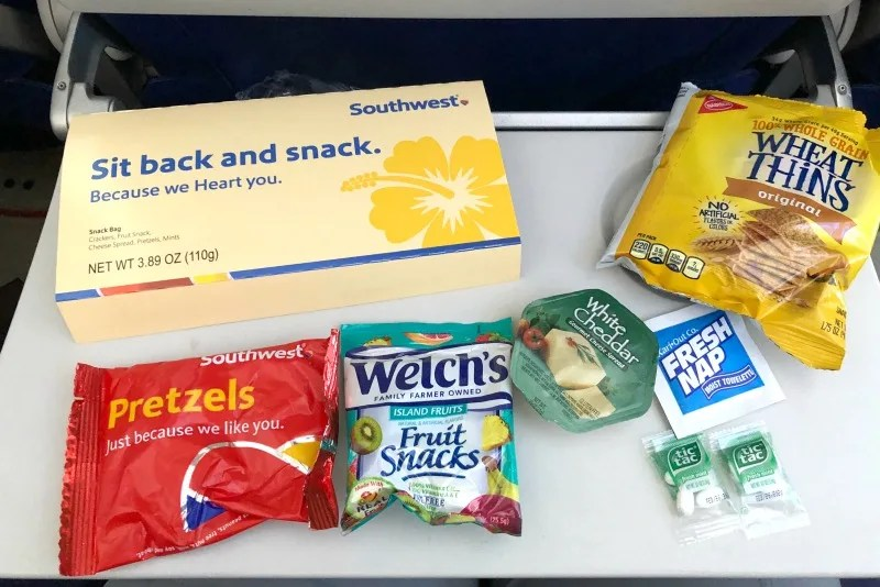 Southwest Hawaii Flight Review - Snack Box Contents