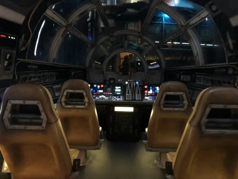 Star Wars Galaxys Edge Disneyland - Falcon Cockpit