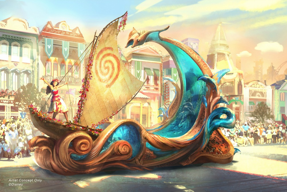 Disneyland Magic Happens Parade Moana Float Artist Rendering