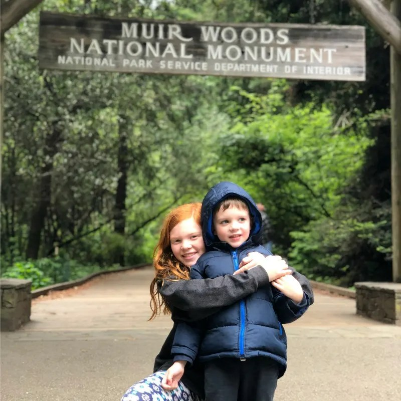Every Kid in a Park - National Park with 4th Graders - Siblings at Muir Woods