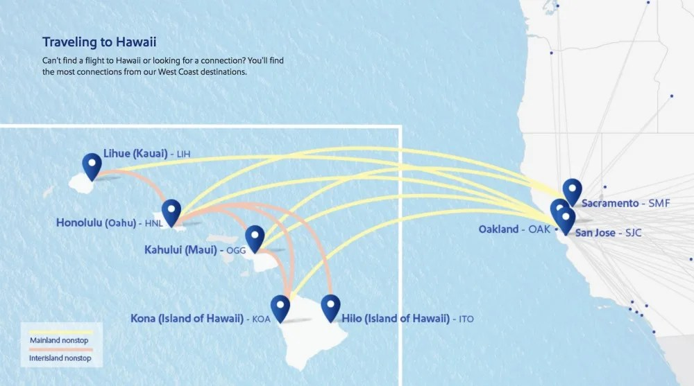 Southwest Hawaii Route Map Early 2020