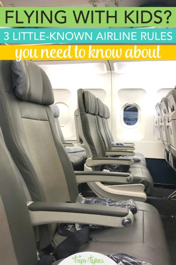 Every airline has its own unique rules, and a few of them may be unpleasant surprises for family travelers. Find out what they are so you aren't tripped up the next time you fly with kids on United, Southwest, Delta, American and more. #flyingwithkids #familytravel