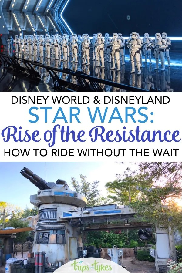 Star Wars: Rise of the Resistance is the most anticipated attraction at Disney parks in years. Find out how you can dodge lines and crowds for this ride at both Disney World and Disneyland. Keep up with the changing Disney procedures and strategies in this regularly updated guide. #riseoftheresistance #galaxysedge #disney #starwars