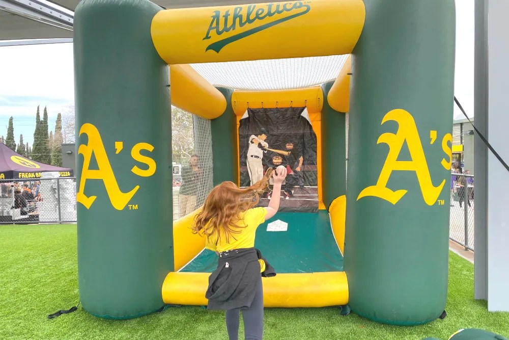 Cactus League Spring Training with Kids - Fast Pitch Game Hohokam