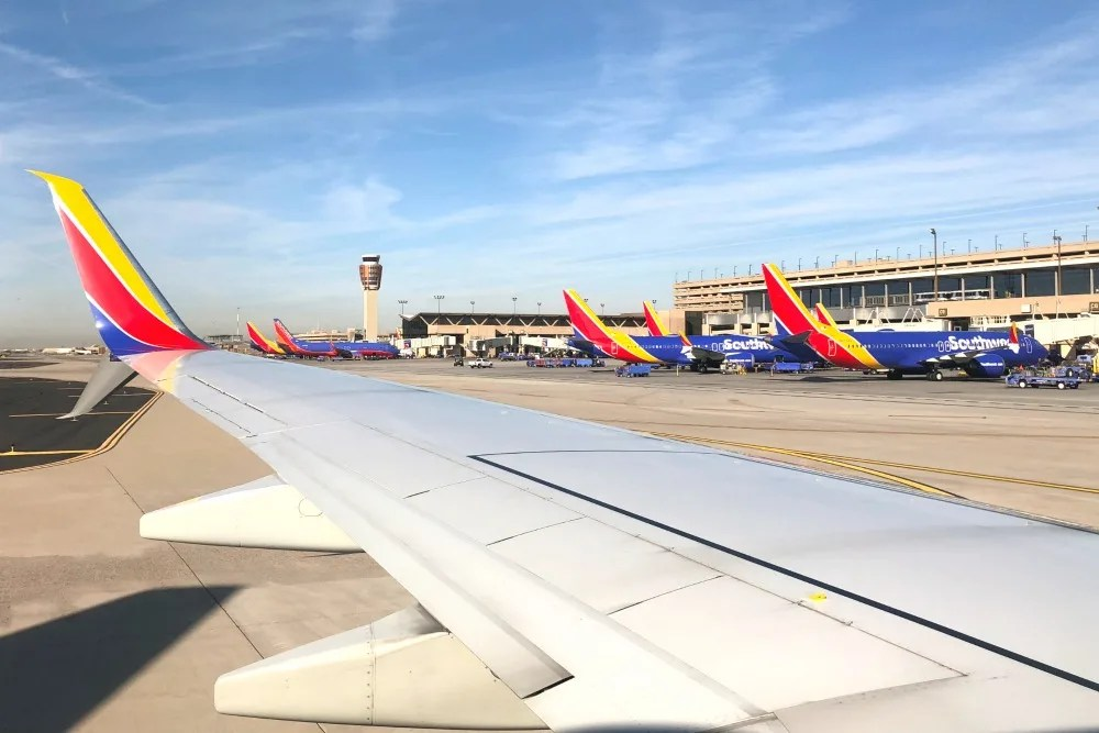 Southwest Airlines Planes at Phoenix Sky Harbor PHX Airport