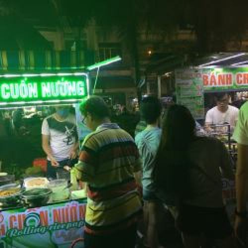 Street food market in Can Tho City