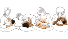 Breastfeeding positions for good latch while breastfeeding. Best breastfeeding tips and tricks for new moms