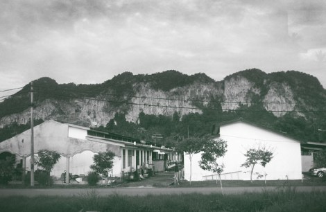 Limestone &  the village in Perlis