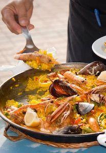 Tenerife paella show cooking