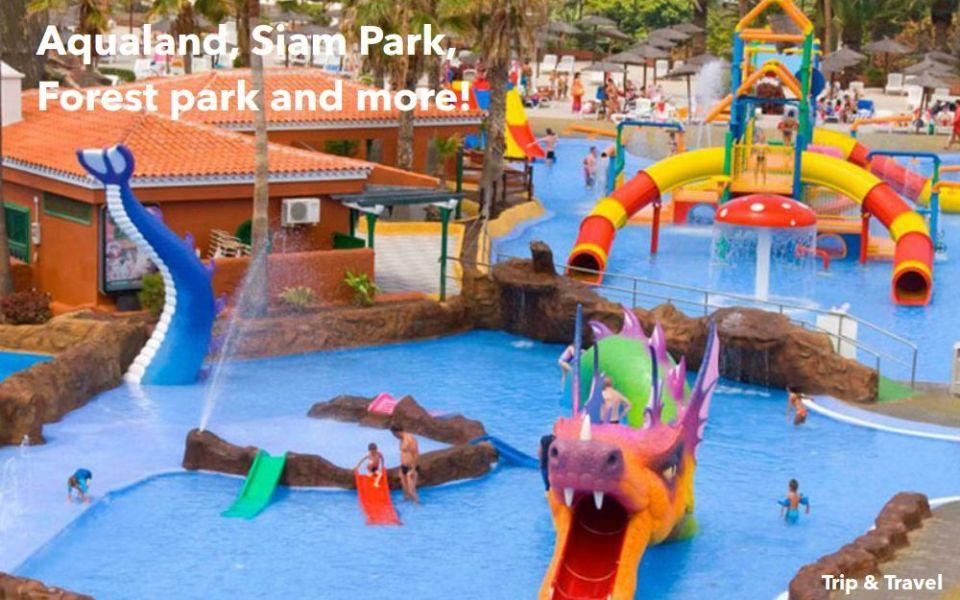 Tenerife Tourist Attractions, Siam Park, Loro Parque, Dolphins Show, Canary Islands, Spain, reservations, hotels, tickets, car renting, Jungle Park, Pirámides de Güímar