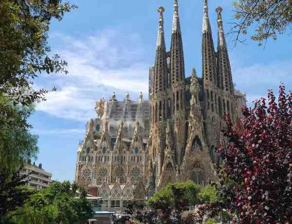 sagrada familia view barcelona