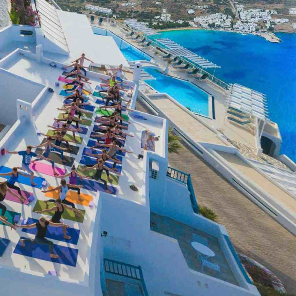 Rooftop at Aegialis Hotel and Spa in Amorgos