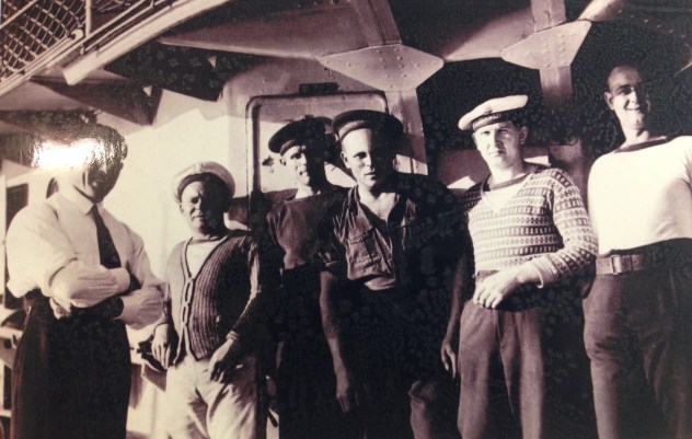 Hello sailors. The handsome sailor in the middle (third from the right) is my grand grandfather, Michal.