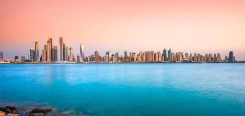 Aanzicht van Dubai
