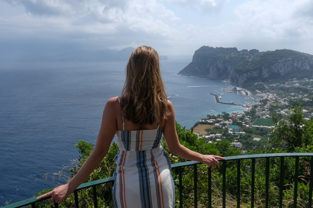 View from Anacapri, Capri Island, Italy.