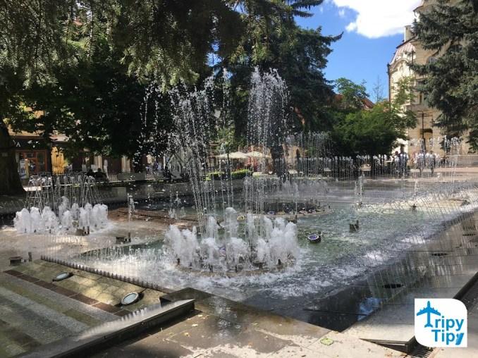 Spievajúca fontána v centre Košíc