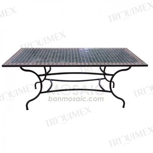 Rectangular Mosaic Top Dining Table for Restaurants