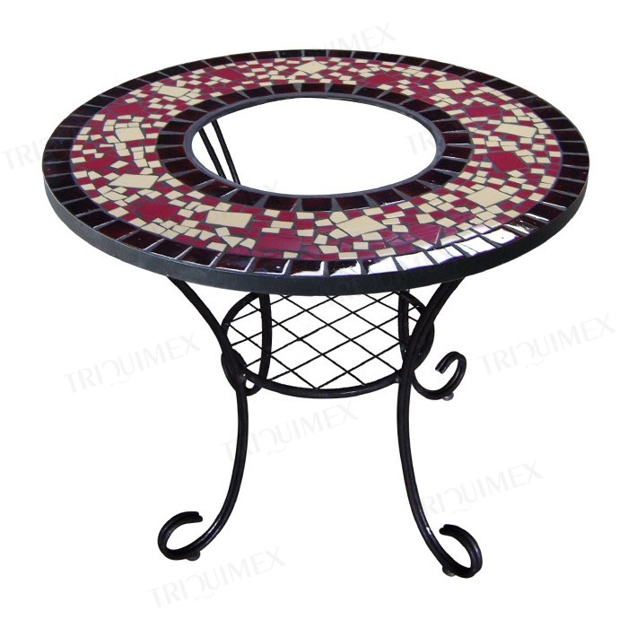 Mosaic BBQ Table with a Charcoal Burner