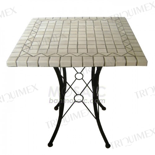 Garden Cafe Table with Square Mosaic Top