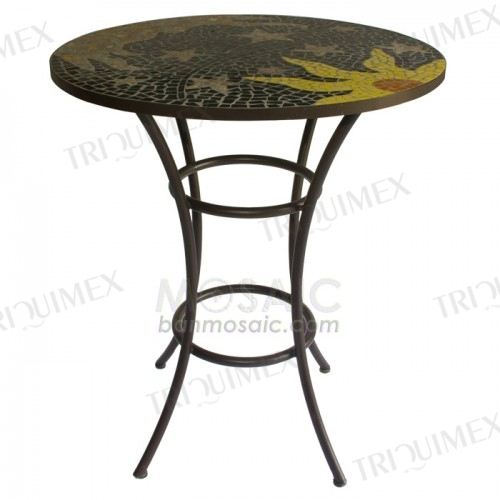 Round Marble Mosaic Table