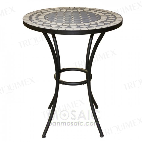 Bar Height Bistro Table Round Mosaic Top