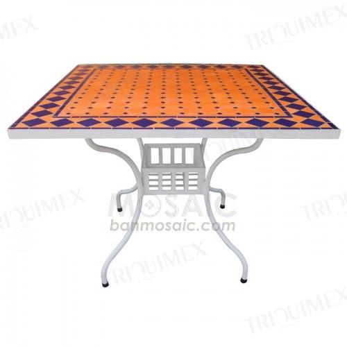 Eye- Catching Terracotta Mosaic Table Top