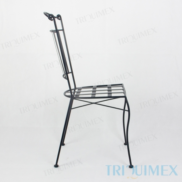 Wrought-Iron-Dining-Chair-Lattice-Seat-4