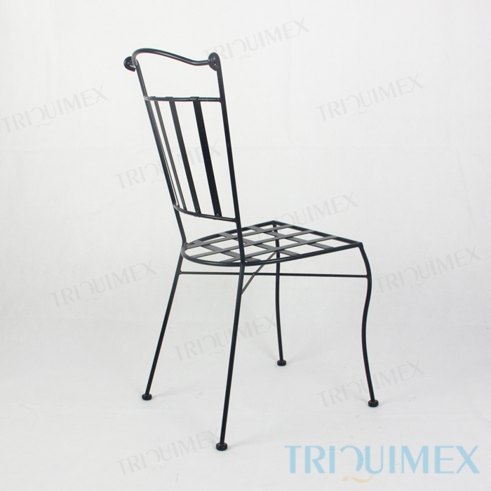Wrought-Iron-Dining-Chair-Lattice-Seat-5