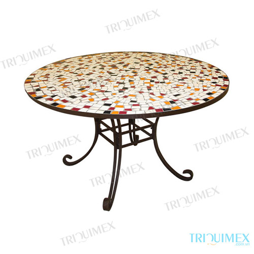Round-Ceramic-Mosaic-Outdoor-Dining-Table (2)