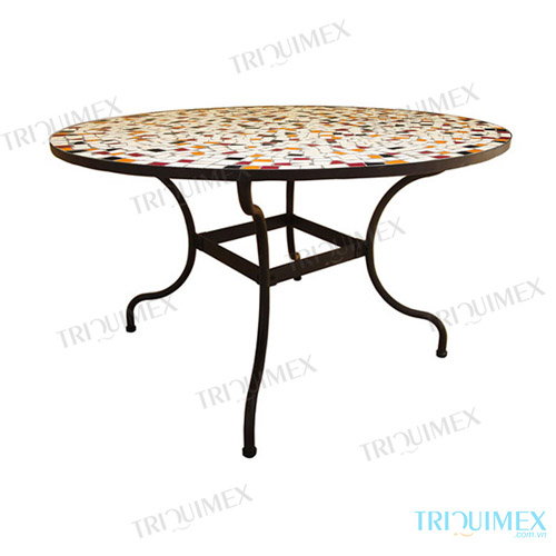 Round-Ceramic-Mosaic-Outdoor-Dining-Table