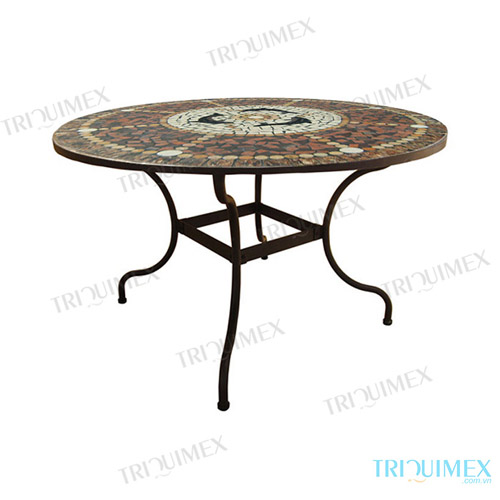 Round-Mosaic-Outdoor-Dining-Table-with-Wrought-Iron-Base (2)