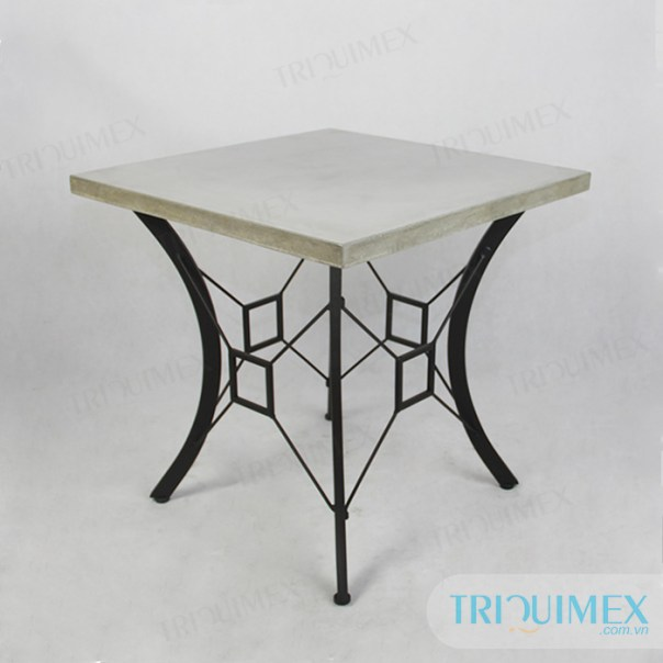 Square lightweight concrete table top