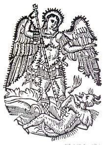 Sv. Mihovil ubija zlo (sa stranica Muzeja grada Šibenika)