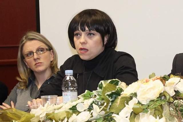 Mirela Holly na osnivačkoj skupštini ORaH-a u Kninu (Foto H. Pavić)