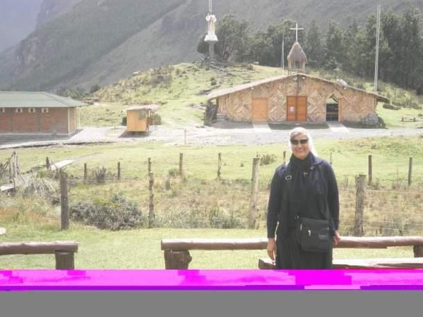 Sestra Lenka Čović na mjestu ukazanja Gospe