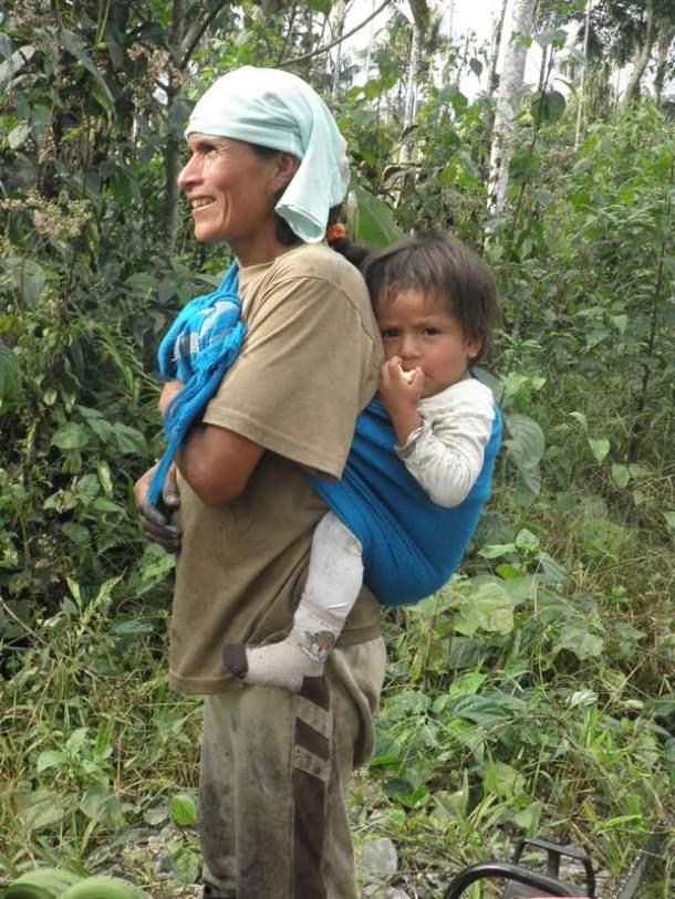 Indijanka s djetetom