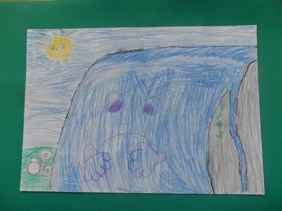 Dječji crtež: zabrinuti Krčić