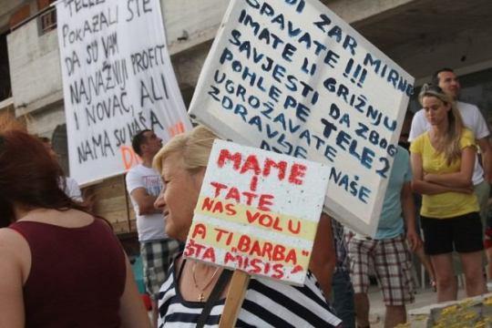 Ovako je izgledao prosvjed u Šibeniku (snimo H. PAVIĆ)