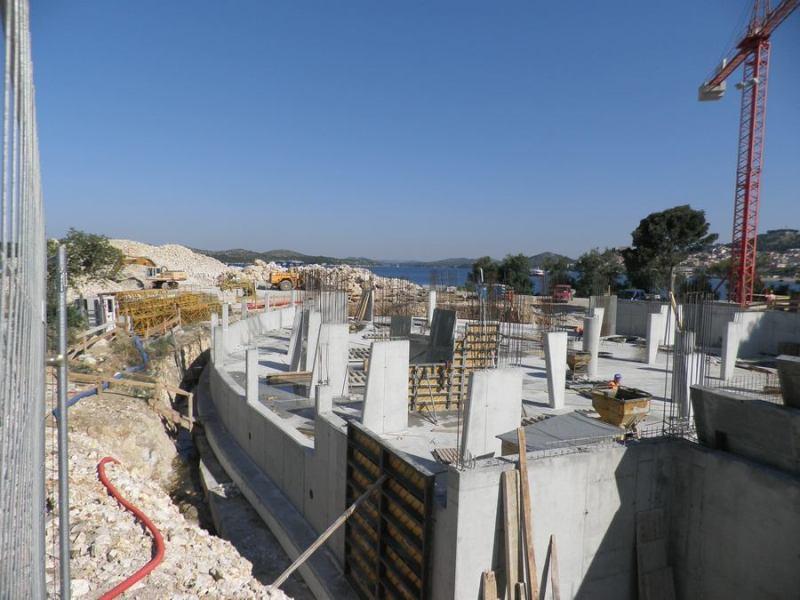 Gradilište budućeg hotela D-Resort Šibenik