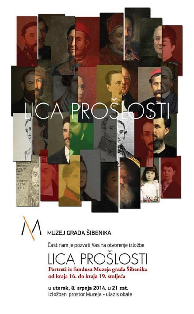 Pozivnica za izložbu Lica prošlosti (autor Ante Filipović Grčić)