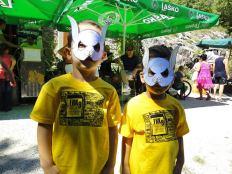 Dva mlada Šiš-čovjeka - s radionice o šišmišima na FRK-u