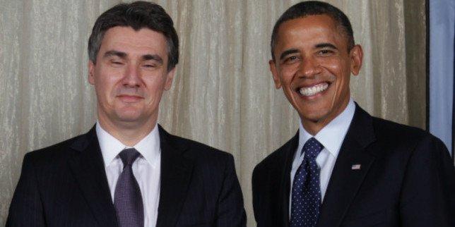 Predsjednik Valde RH i predsjednik SAD-a (foto: Twitter/Vlada RH)