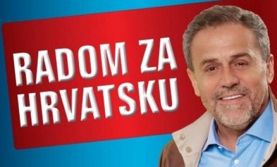 Milan Bandić na predizbornom plakatu
