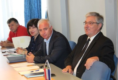 Sjednica Stožera za zaštitu i spašavanje - predsjednik Stožera  Pauk i načelnik Smolić (Foto H. Pavić)
