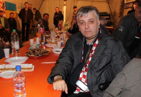 Đuro glogoški u šatoru pred Savskom 66 (Foto: H. Pavić)