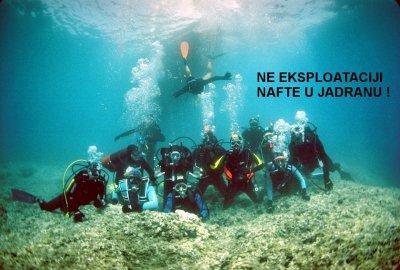 Prosvjed s dna mora - foto: Facebook Zelena Istra